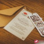 """Zaproszenia ślubne vintage """"AIRMAIL"""" ze zdjęciami"""