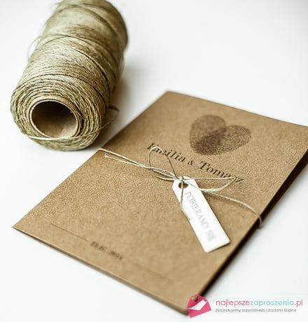 Zaproszenia ślubne z odciskiem palców