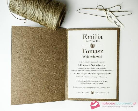zaproszenia ślubne z palcami