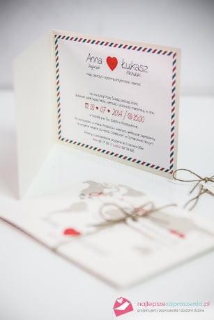 serce wektor zaproszenie ślubne