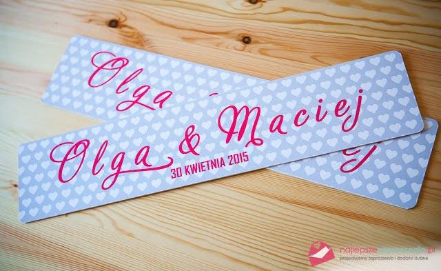 tablice rejestracyjne na ślub