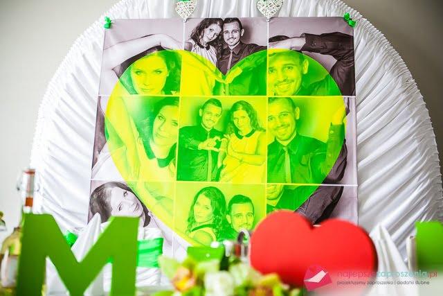zielone dodatki na ślub