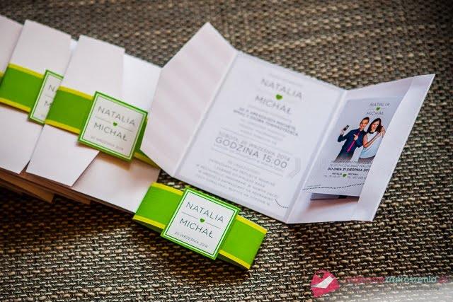 zaproszenie zielone jabłuszko