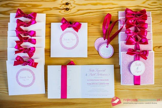 zaproszenia pink