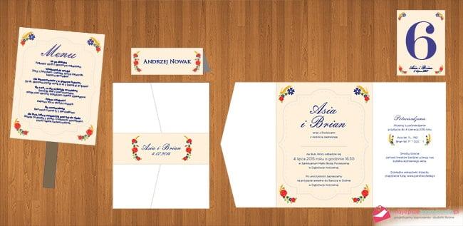 zaproszenie ślubne projekt