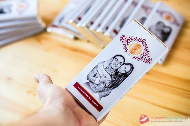 Czekoladowe zaproszenia ślubne kreatywne oryginalne inne