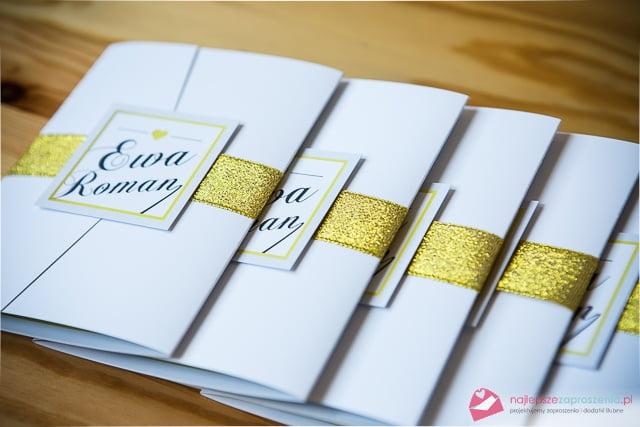 zaporszenie złoty motyw ślubny