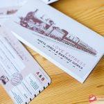 Zaproszenie na ślub – Bilet kolejowy
