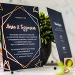 eleganckie zaproszenia ślubne ze złoceniem