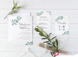 zaproszenia ślubne białe