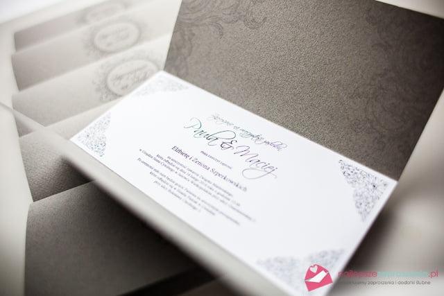 zaproszenia ślubne bardzo eleganckie