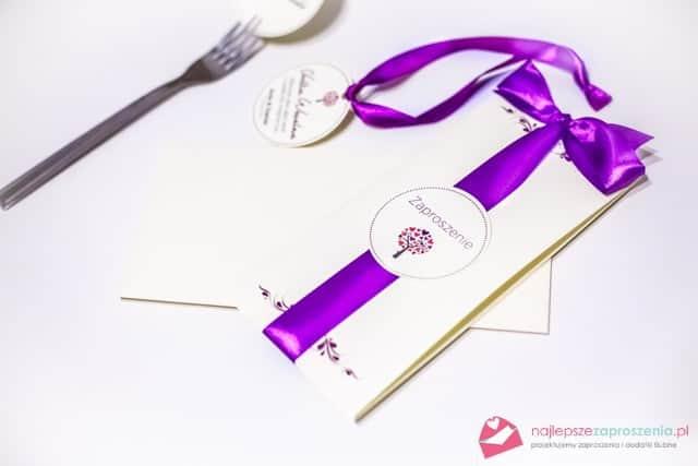 fioletowe zaproszenia