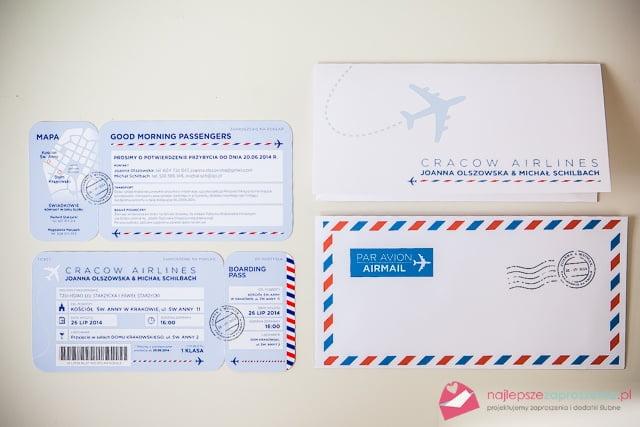 Zaproszenie Na ślub Bilet Lotniczy Najlepsze Zaproszenia Pl