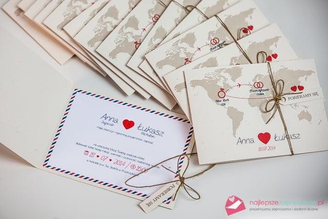 zaproszenia na ślub z sercem