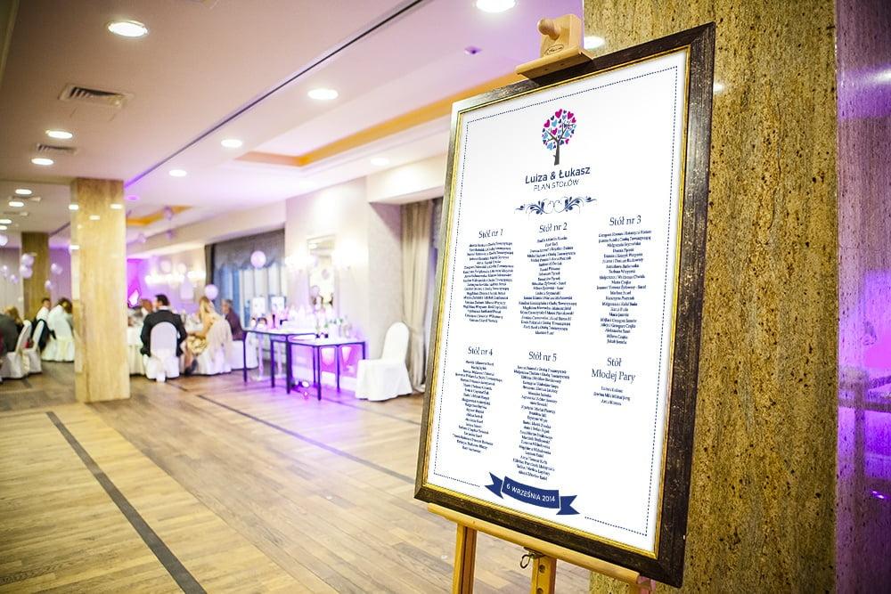 plan stołów na weselu