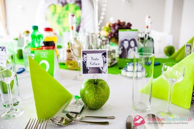 zielone dodatki na wesele