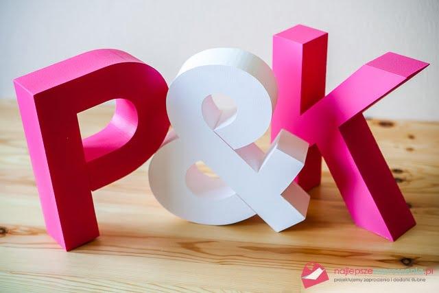 litery na stół