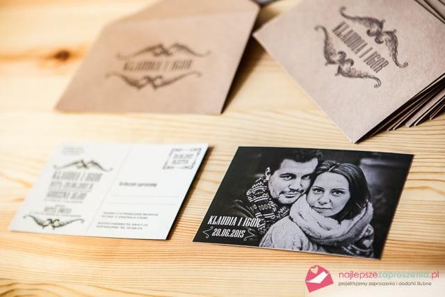 zaproszenie w formie pocztówki