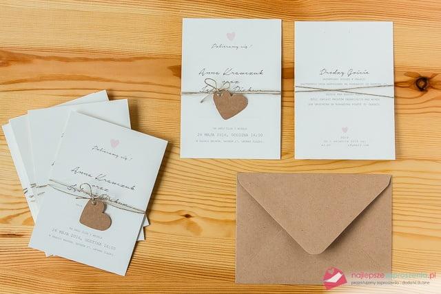 zaproszenia na ślub craft