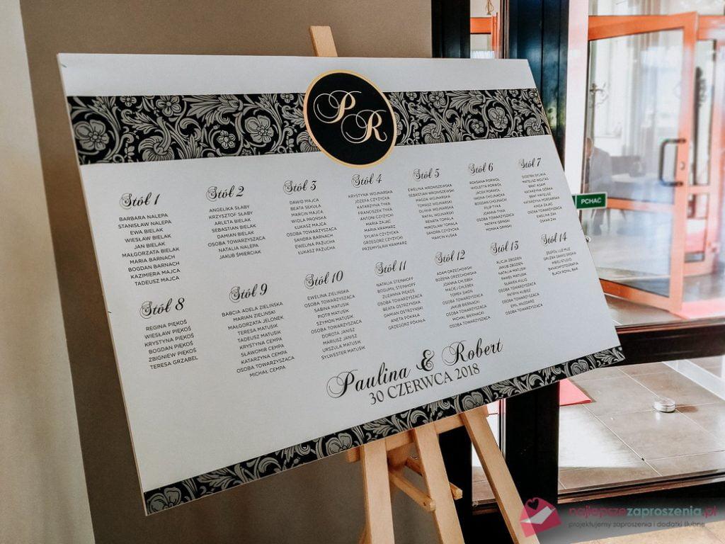 plan stołów dozaproszeń