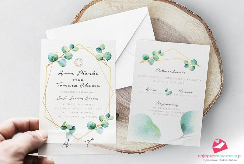 najładniejsze zaproszenia ślubne