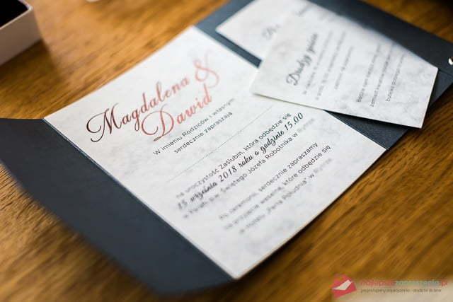 Eleganckie Zaproszenia ślubne Najlepsze Zaproszenia Pl