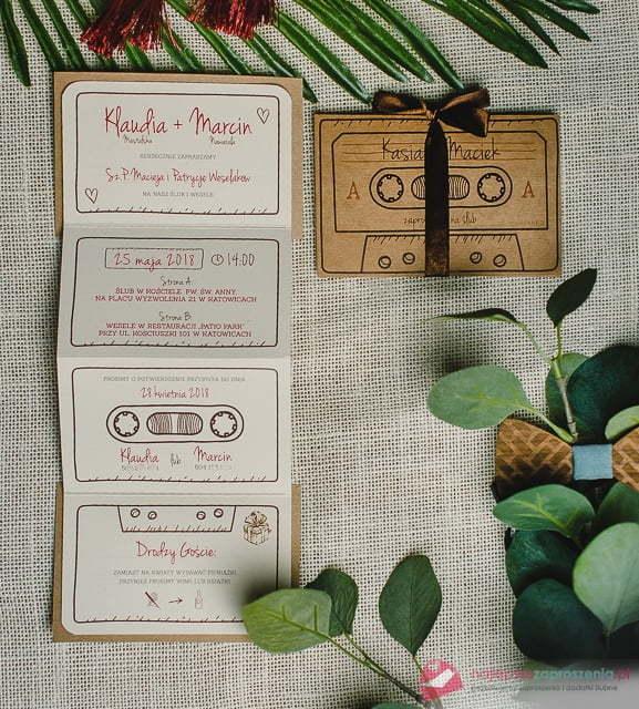 Zaproszenia muzyczne - kaseta