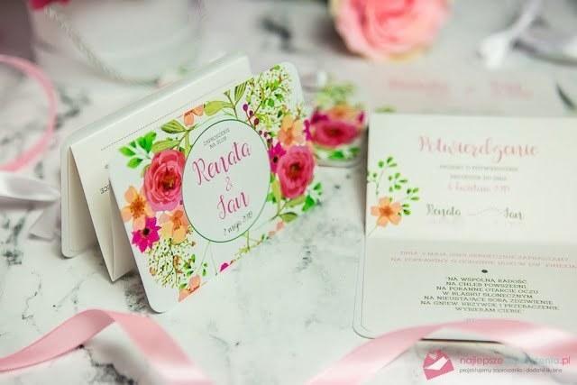 wiosenne zaproszenia na ślub