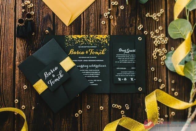 sparkles zaproszenia ślubne