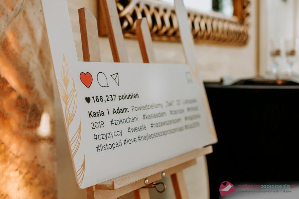 tablica instagram  nawesele zaproszenia