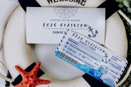 zaproszenie bilet na statek