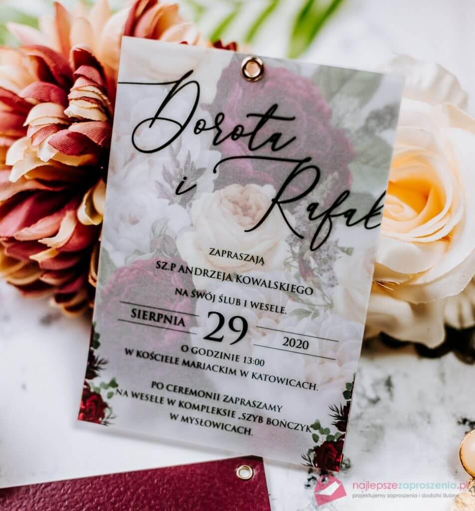 zaproszenia ślubne przeźroczyste zaproszenia ślubne glamour