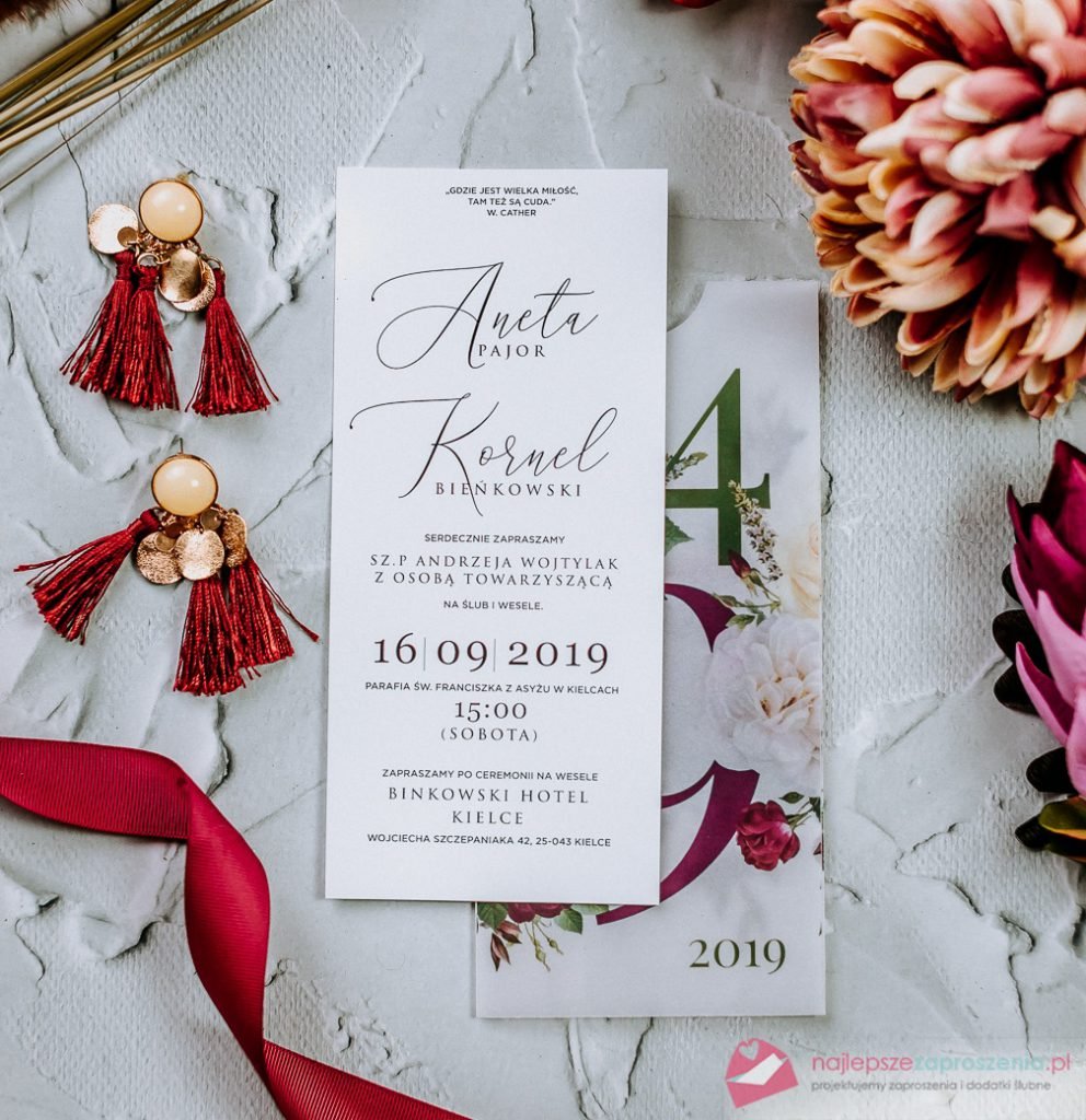 zaproszenia naślub kolorowe