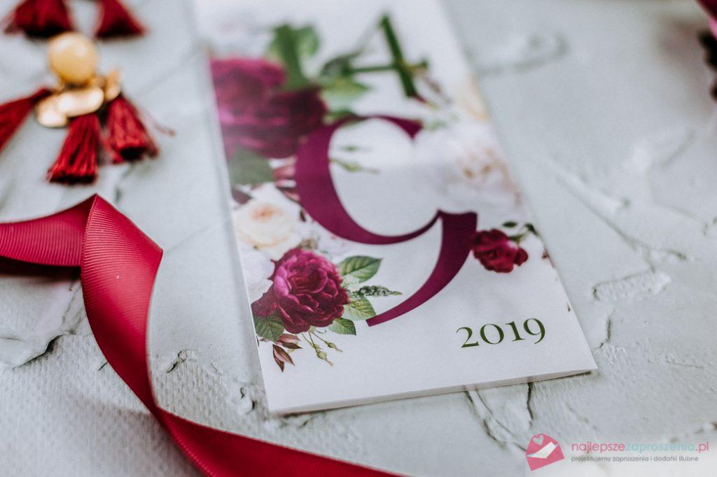 zaproszenia ślubne modern florystyczny
