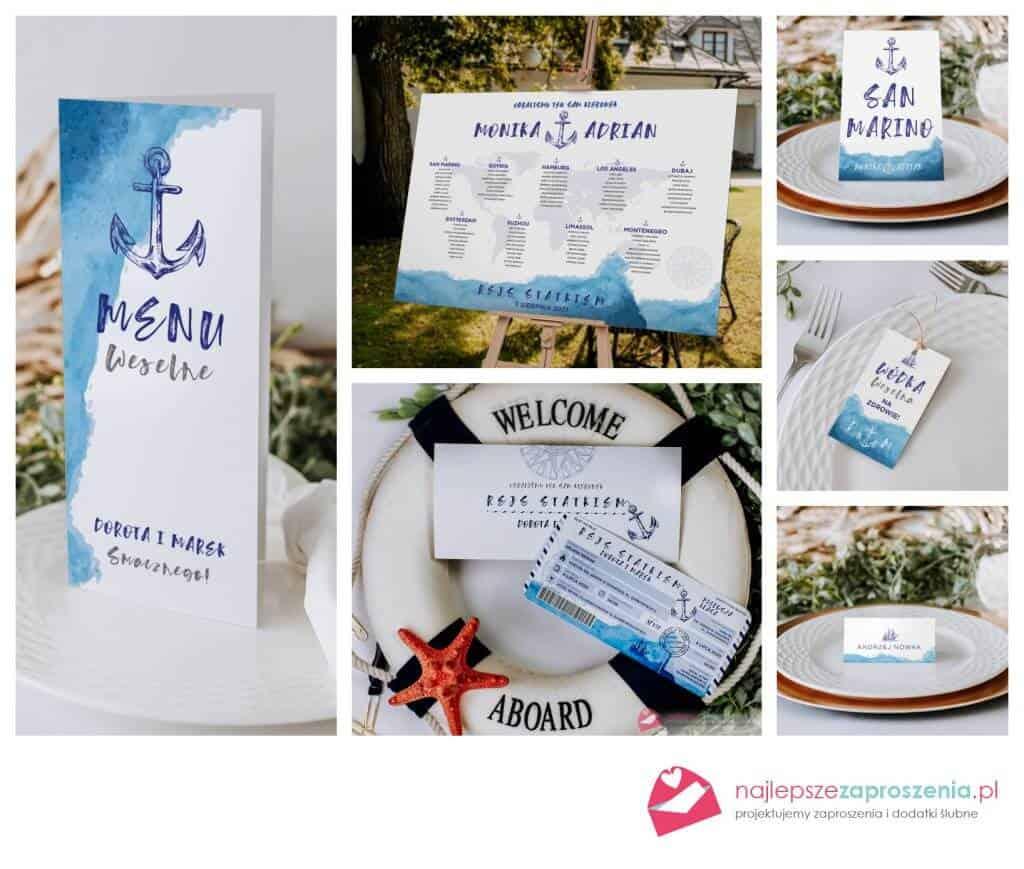zaproszenia morskie wesele nadmorzem