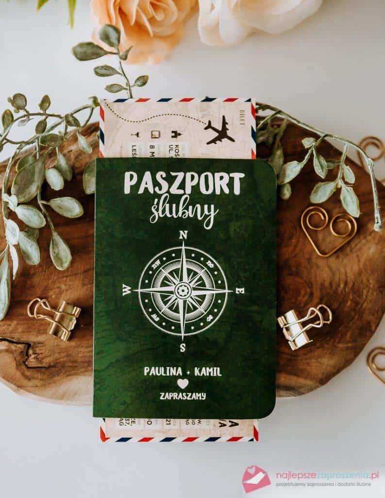 zaproszenie ślubne paszport ibilet