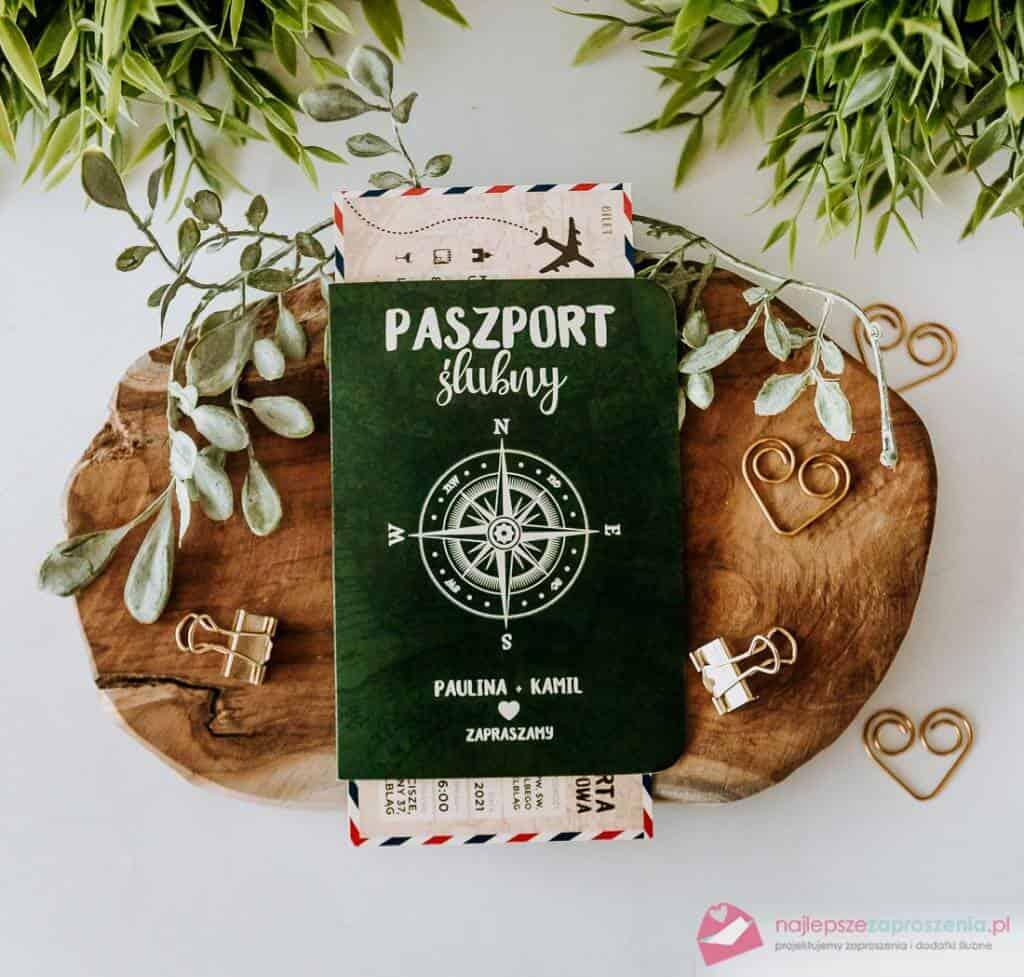 zaproszenie paszport zbiletem/kartą pokładową