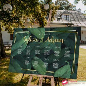wesele w stylu boho zielone liście